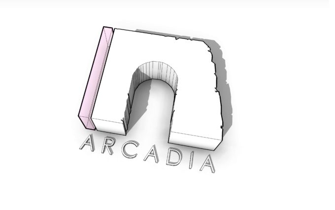 Arcadia Logo 3D lines